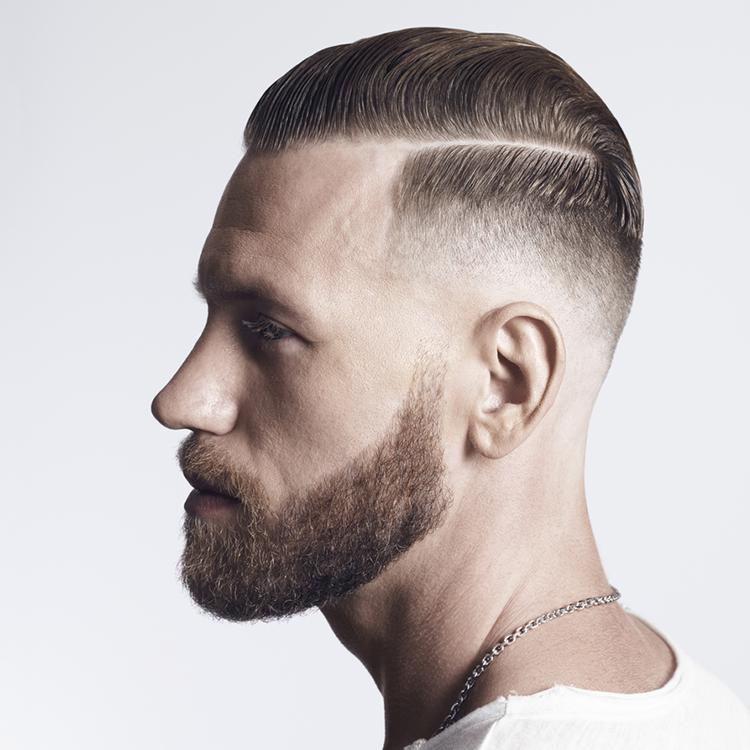 L'Oréal Model für Haar-Styling - Mann mit Bart und Kette